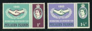 Pitcairn Islands #54-55 Int. Coop. Year, Unused (14.35)