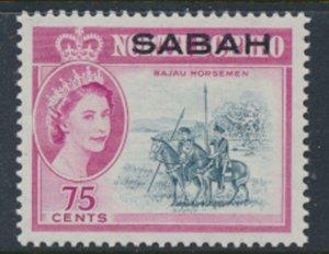 SABAH Opt on North Borneo  SG 419  SC# 12 MVLH  Bajau Horsemen see scans /det...