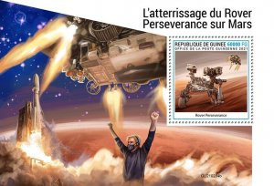 GUINEA - 2021 - Rover Perseverence on Mars - Perf Souv Sheet - Mint Never Hinged