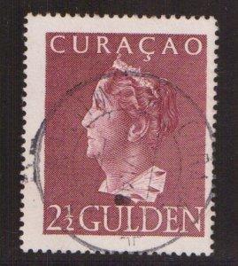 Netherlands Antilles  Curacao  #185  used  1947  Wilhelmina 2 1/2g