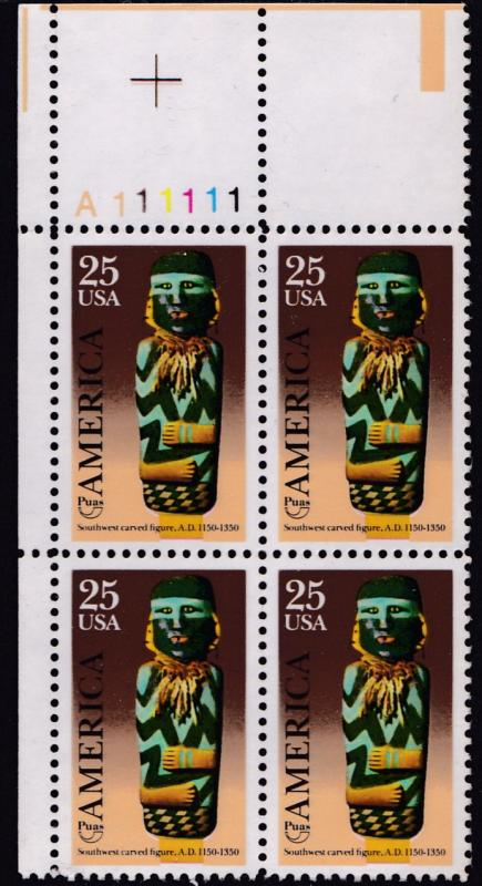 United States 1989 Pre-Columbian ART Discovery of America Plate Nr. Block VF/NH