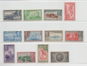 Barbados - 1950 - SG271-82 - MH/MNH
