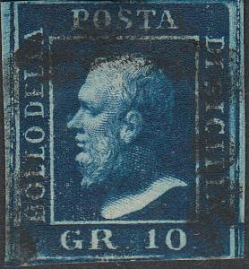 TWO SICILIES 16  10 Gr  Used FVF (51418)