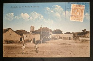 Vintage Arrabales de Santa Marta Columbia Real Picture Postcard Cover