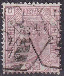 Great Britain #67 Plate 5 F-VF Used  CV $60.00 (A19485)