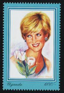 Uganda 1519 MNH Princess Diana, Flowers, Royalty