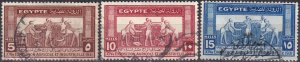 Egypt #163-5  F-VF Used  CV $4.75  (Z9539)