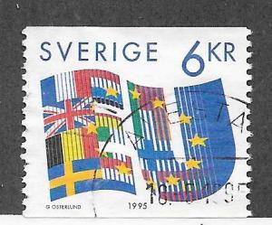 Sweden #2120 6kr EU (U) CV $1.10