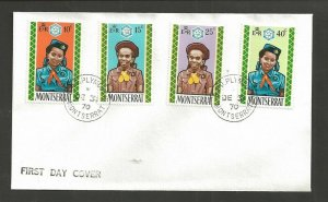 1970 Montserrat Scout Girl Guide Brownie FDC