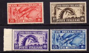 ITALIA REGNO ITALY KINGDOM 1936 XVII 17th FIERA DI MILANO FAIR SERIE COMPLETA...