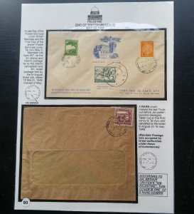 "EXTREMELY RARE PALESTINE/ISREAL ""ONLY 6 COVERS KNOWN"" PALESTINE STAMP CANCELLED"
