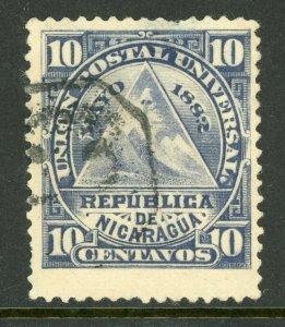 Nicaragua 1882 ABNC 10¢ w/ Granada Cancel VFU L779