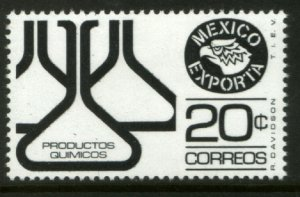 MEXICO Exporta 1110, 20¢ Chem flasks Unwmkd Fosfo Paper 5. MINT, NH. VF.