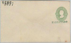 52230 - MEXICO - POSTAL  HISTORY - STATIONERY overprinted HABILITADO - HG # 10c
