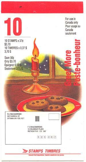 Canada - 1992 37c Christmas Greetmore Stamp Booklet #BK149a