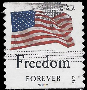 #4639 (45c Forever) 4 Flags Freedom PNC Single #S22222 2012 Used