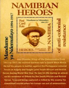 Namibia - 2017 Heroes Mandume yaNdemufayo MS MNH**