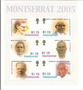 Politicians of Montserrat, S/S 6, MONT06001