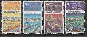 1989 Singapore -Sc 537-40 - 4 singles - MNH VF - Port Authority