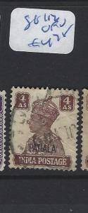 INDIA  PATIALA    (P2807B)   KGVI  4A  SG  112     VFU