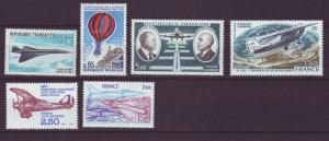 J19373 Jlstamps 1969-81 france set of 1 mnh #c42-up airmails