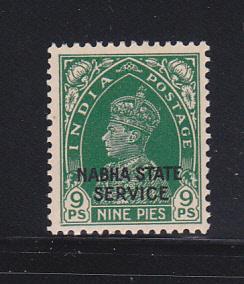 India Nabha O38 MH King George VI