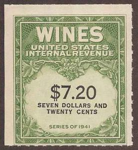 RE160 Mint F no gum as issued Wine