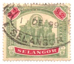 Malaya - Selangor Scott 37 Used