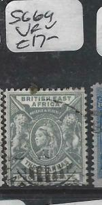 BRITISH EAST AFRICA   (P3105B)  QV  LION  3A  SG 69   VFU