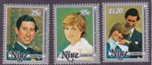 Niue # 340-342, Royal Wedding, NH, 1/2 Cat.