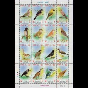 OMAN 2002 - Scott# 442 Sheet-Birds NH