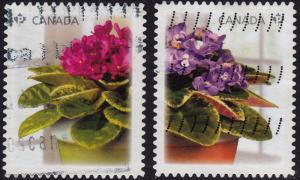 Canada - 2010 - Scott #2377-2378 - used - Flower Violet