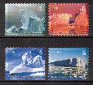 BRITISH ANTARCTIC 2007 Icebergs; Scott 378-81, SG 456-59; MNH