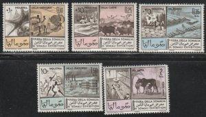 Somalia #279-281, C101-C102 MNH Full Set of 5 cv $4.55