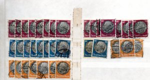 GERMANY 1930's President Hindenburg Collection USED 100's