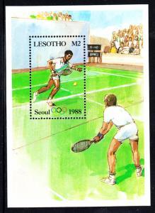 Lesotho MNH 1987 #577 2m Tennis 1988 Summer Olympics