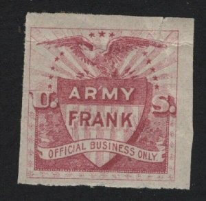 United States MINT ARMY FRANK VF  - BARNEYS