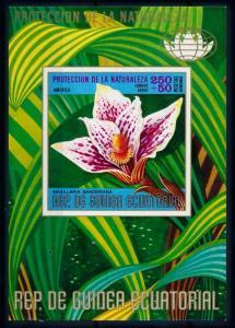 [67163] Equatorial Guinea 1974 Flora Flowers Blumen Orchids Souvenir Sheet MNH