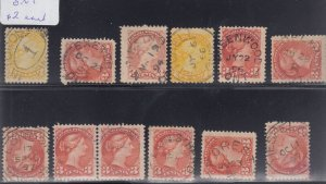 Small Queen CANCEL LOT Canada used, fancy, dated, corks, parcel, RPO's etc.