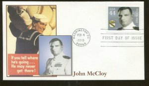 2010 Washington DC - Distinguished Sailors - John McCloy - Fleetwood FDC