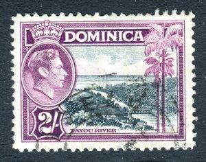 Dominica 1938 KGVI. 2s slate & purple. Used. SG106a.