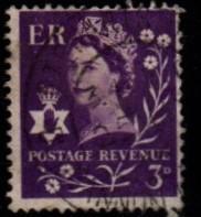 Great Britain - Northern Ireland - #1 Queen Elizabeth (Wmk 322) - Used