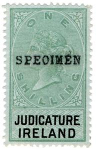 (I.B) QV Revenue : Judicature Ireland 1/- (1882) specimen