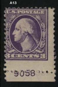 1918 Sc 530 MHR plate number single  Hebert CV $10