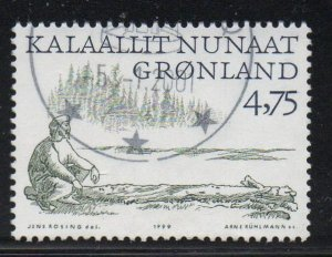 Greenland Sc 352 1999 4.75 kr Viking on Driftwood stamp used