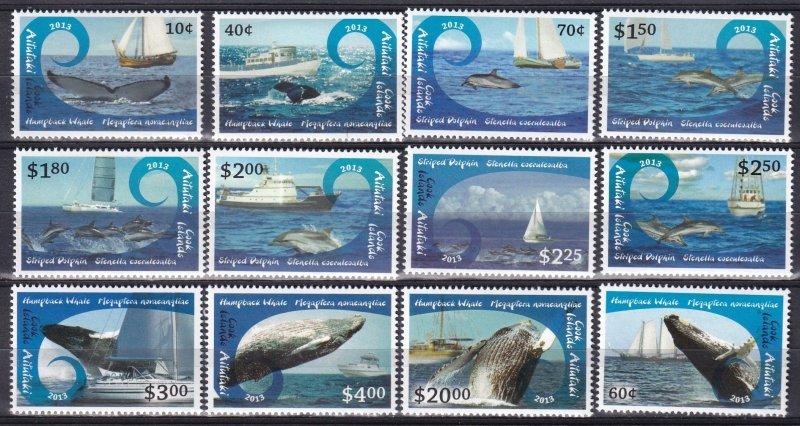 Aitutaki #600-11 MNH   CV $62.50 (Z4407)
