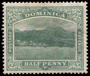 Dominica Scott 35 Unused hinged.