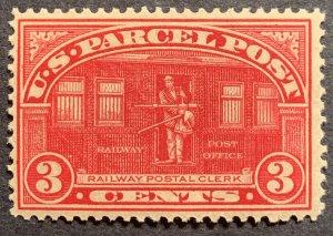 #Q3 – 1913 3c Parcel Post Stamp.  Mint NH OG.  Superb Gem!