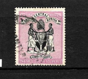 BRITISH CENTRAL AFRICA   1895   2/6d  ARMS   FU  SG 26 CV350pds
