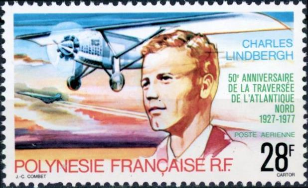French Polynesia #C149 Lindburgh and Spirit of St. Louis MNH